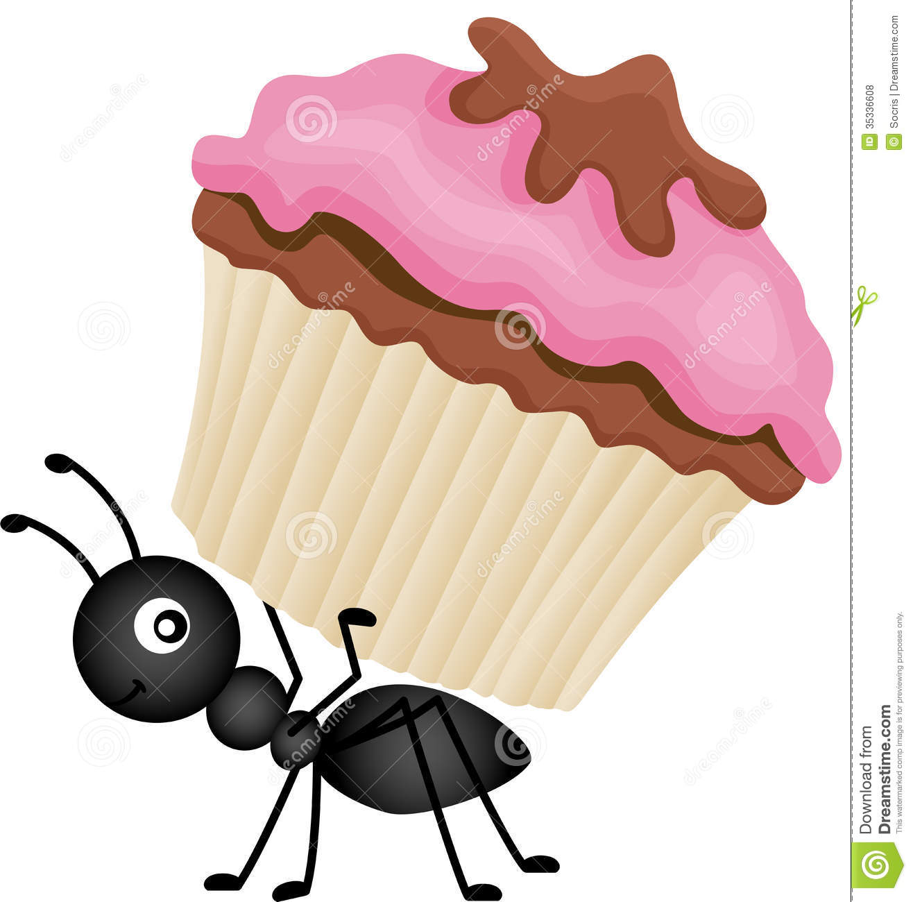 Ants clipart food. Carrying cake