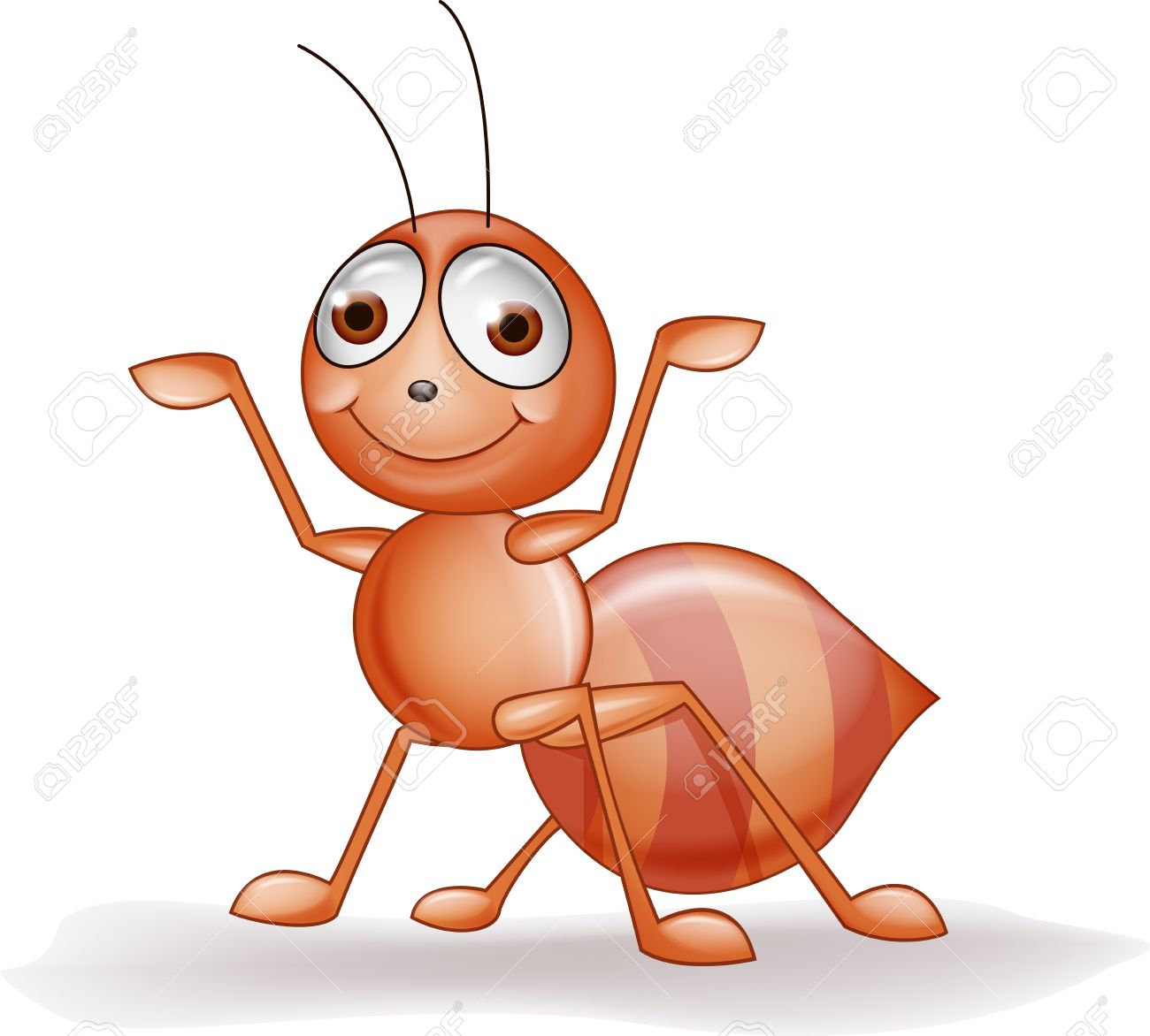 Orange pencil and in. Ants clipart friendly
