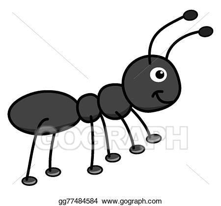 Ants clipart gray. Happy black ant delicious
