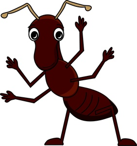Big pencil and in. Ants clipart happy