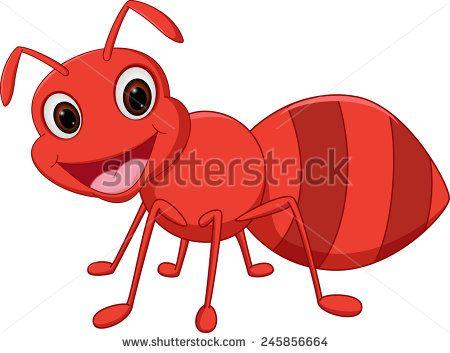 Ants clipart happy. Ant cartoon stock vector