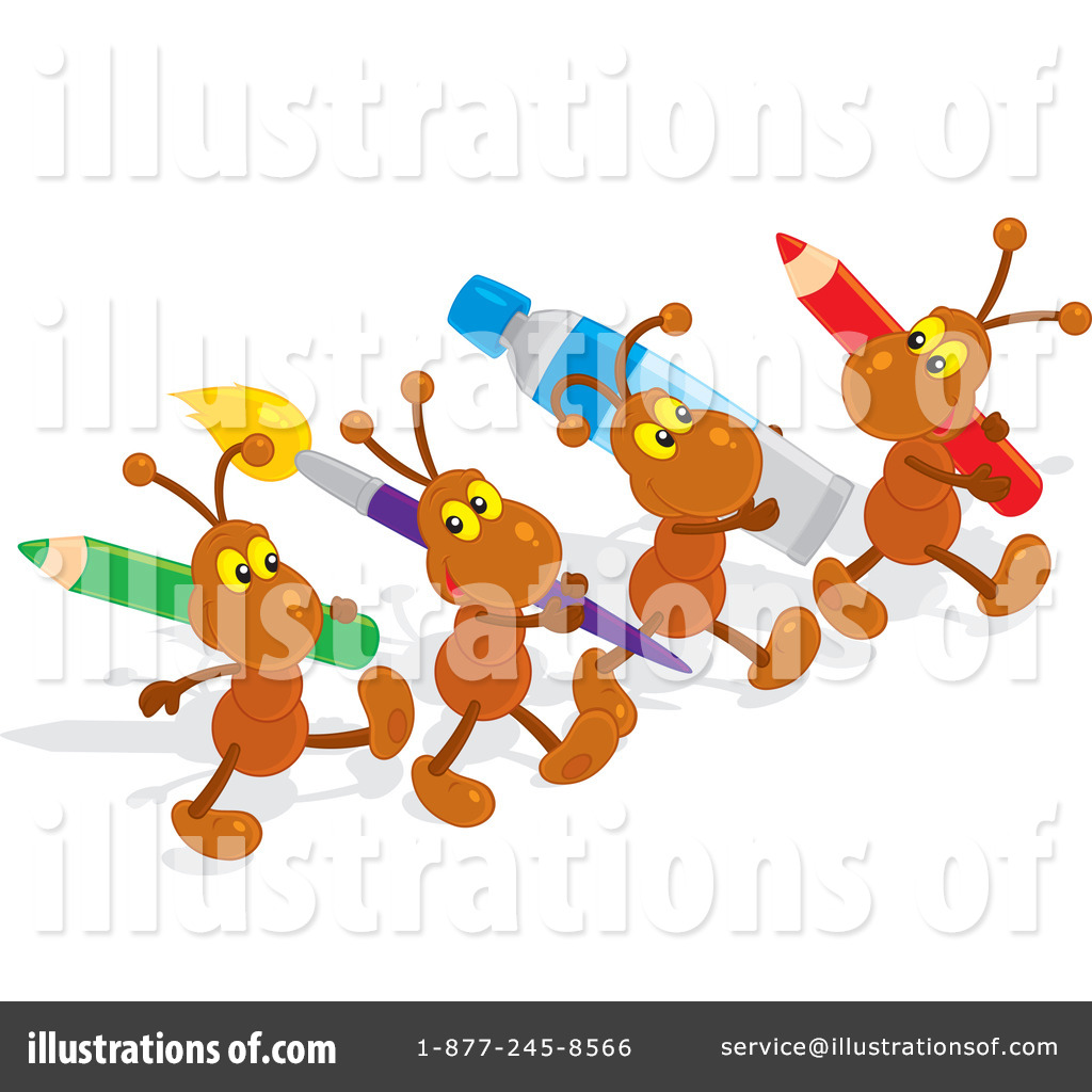 By alex bannykh royaltyfree. Ants clipart illustration