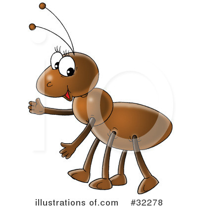 Ant by alex bannykh. Ants clipart illustration