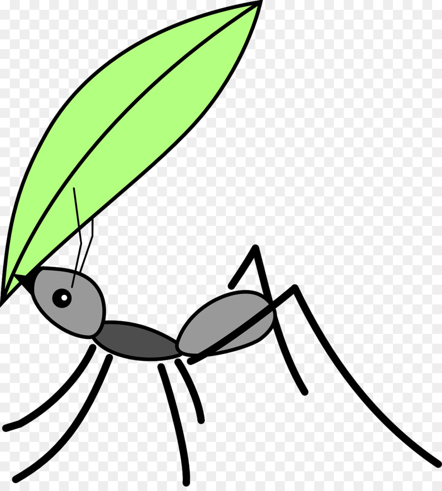 Ants clipart leaf cutter ant. Black garden insect drawing
