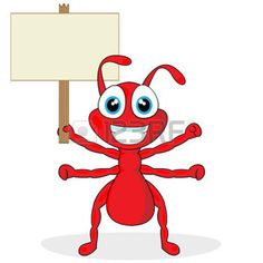 Cute red cartoon illustration. Ants clipart little ant