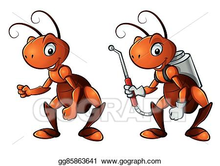 Vector art cute eps. Ants clipart little ant