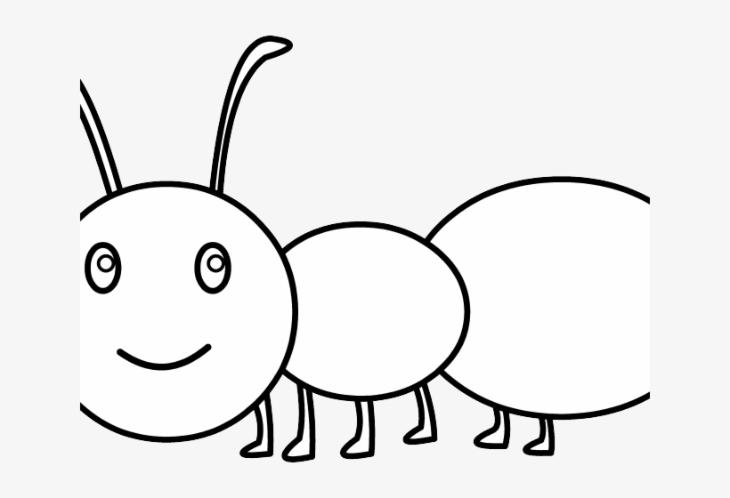 Banner library stock marching. Ants clipart outline