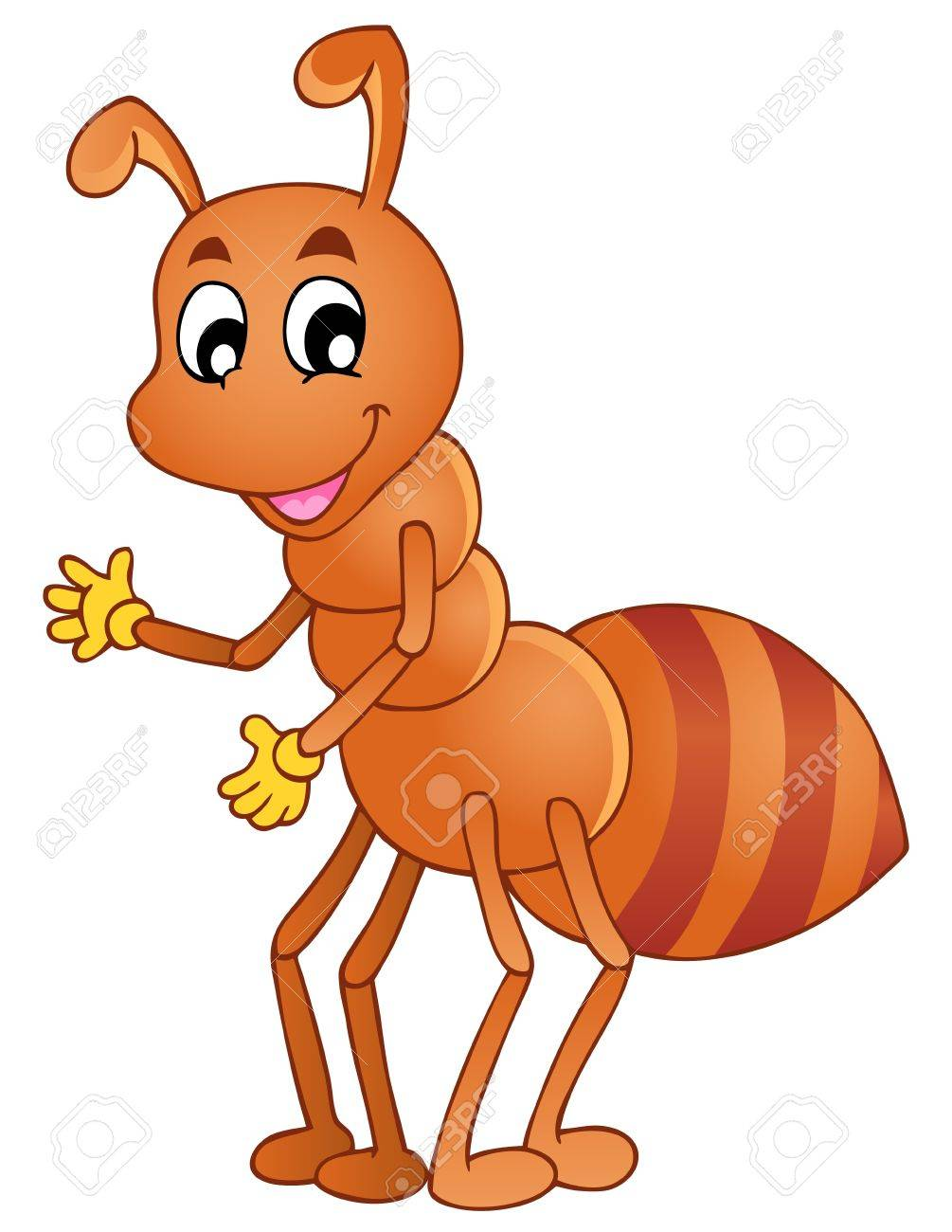 Cartoon ant pictures free. Ants clipart pink