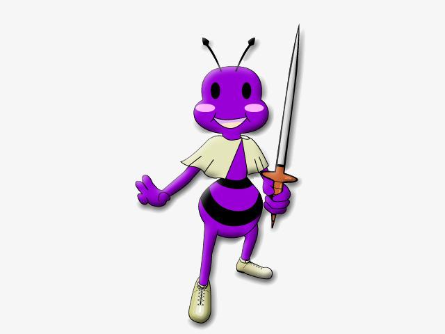 Ant decoration png image. Ants clipart purple