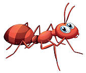 Ant clipart strong. Red clip art royalty
