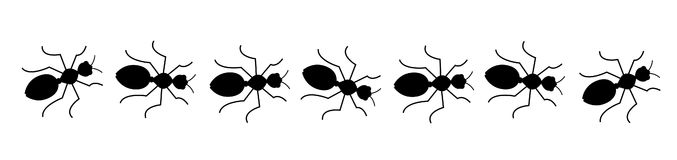 Black and white cliparts. Ants clipart small ant
