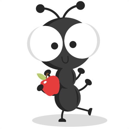 Dancing ant svg cutting. Ants clipart summer picnic