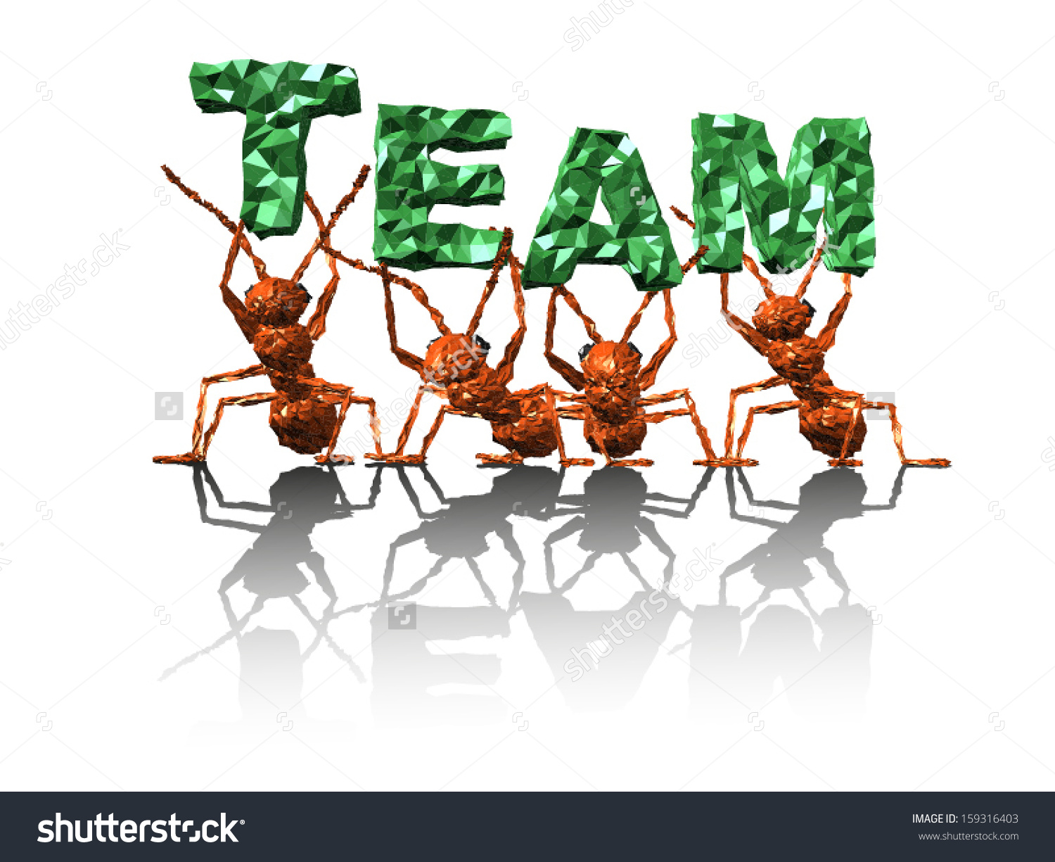 Ants clipart teamwork. Pencil and in color