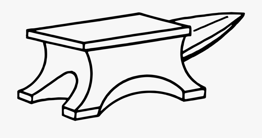 Blacksmith png free . Anvil clipart black and white