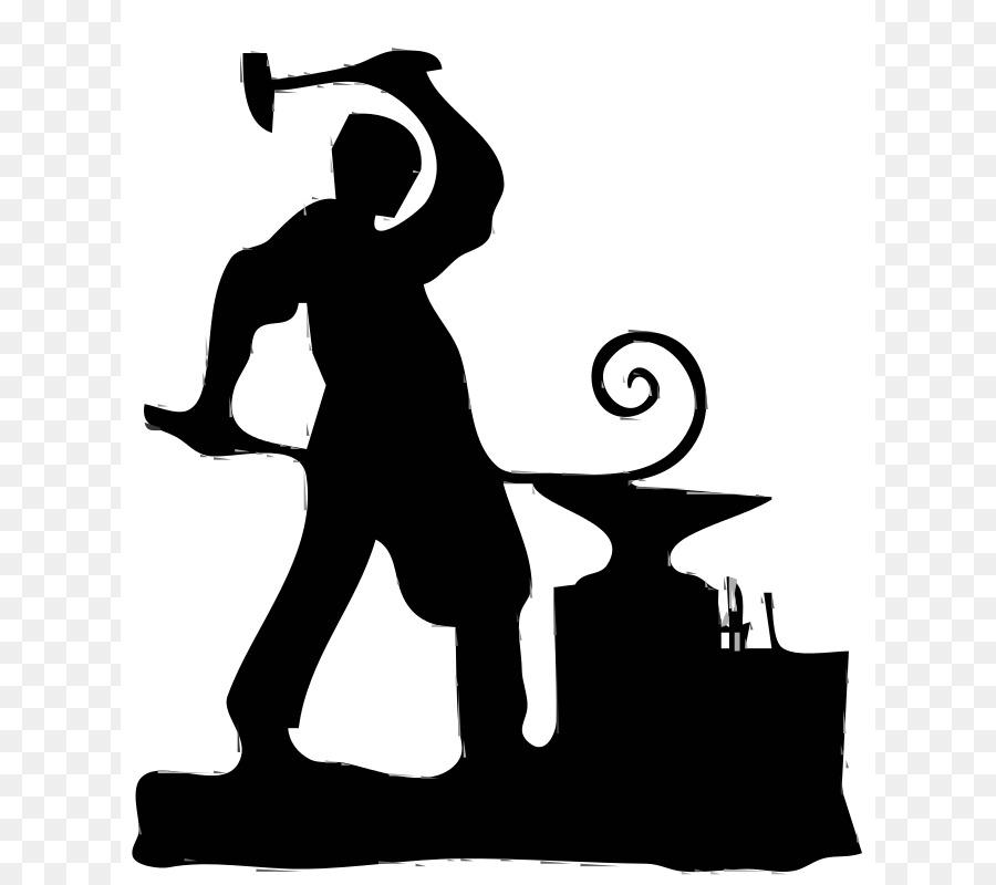 The blacksmiths shop clip. Anvil clipart black and white