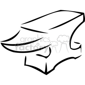 Anvil clipart black and white. Royalty free cartoon vector