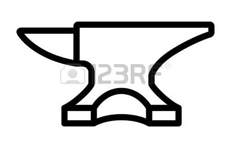 Drawing at getdrawings com. Anvil clipart black and white