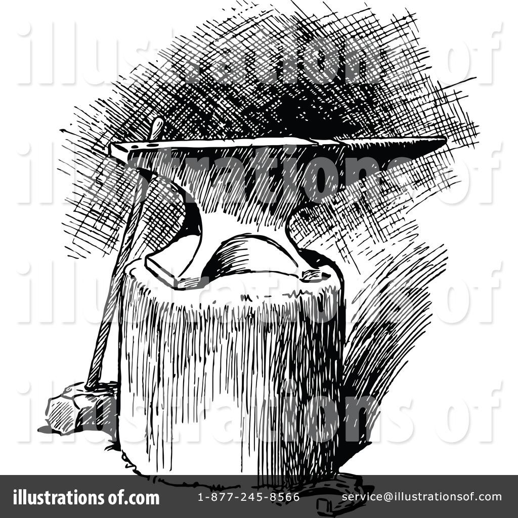 Anvil clipart black and white. Illustration by prawny vintage