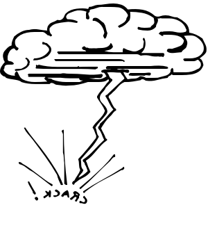 Cloud clipground lightning bolt. Anvil clipart black and white