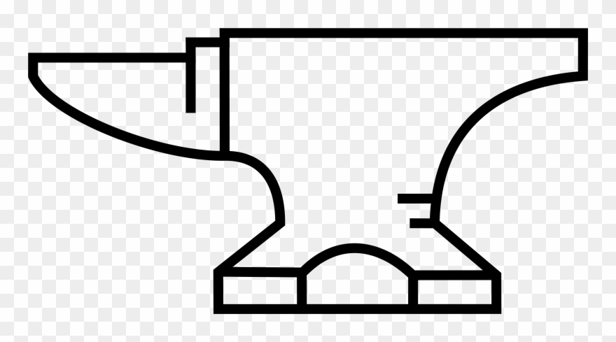 Pinclipart . Anvil clipart black and white