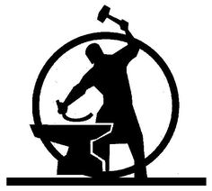 Anvil clipart blacksmith. Sign indicating the location