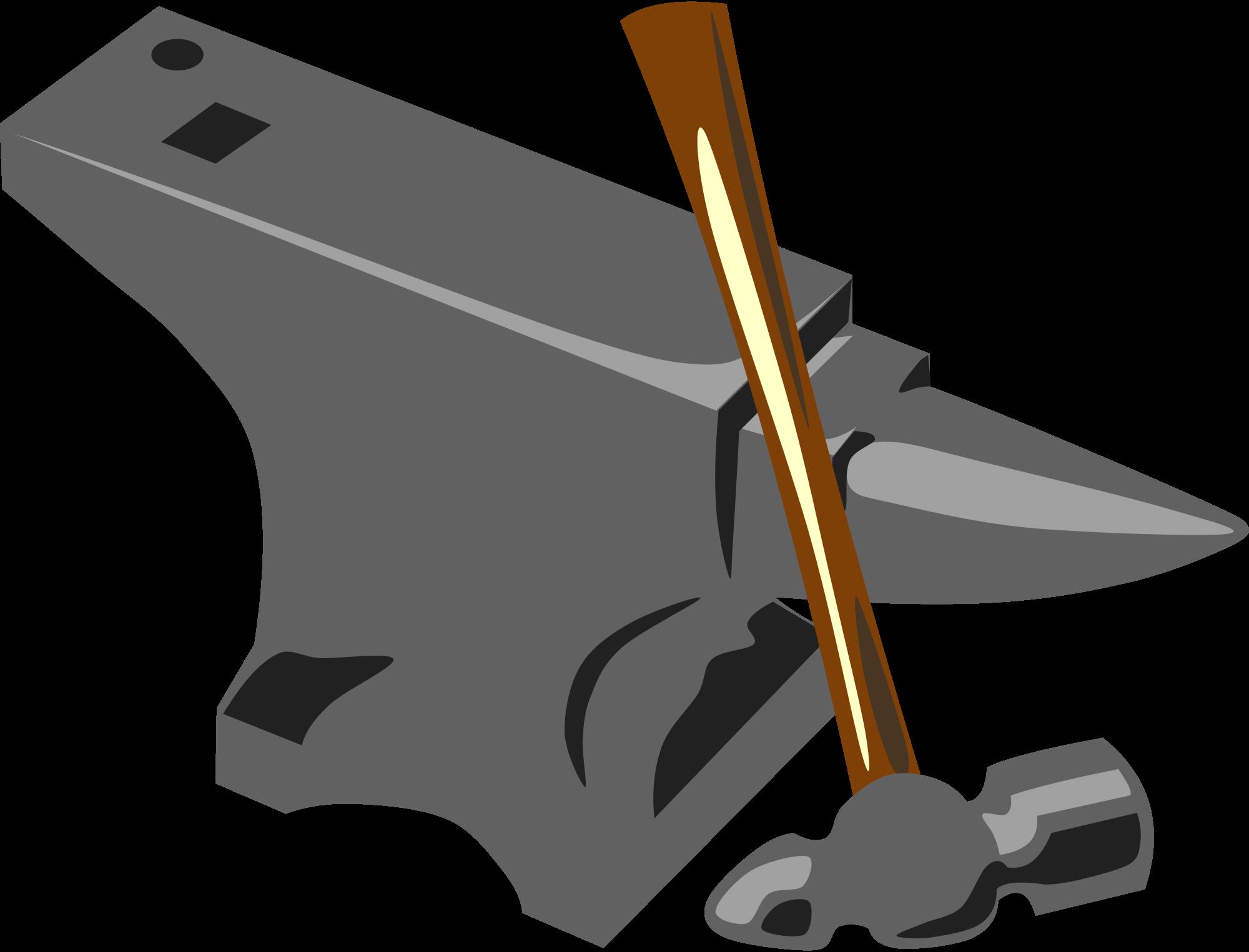 File hammer svg wikimedia. Anvil clipart blacksmith