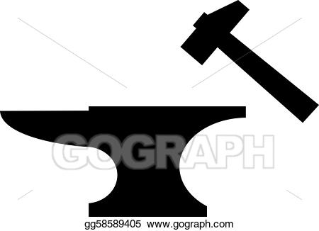 Anvil clipart blacksmith tongs. Clip art vector and