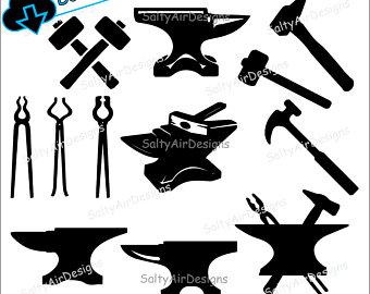 Tools etsy . Anvil clipart blacksmith tool