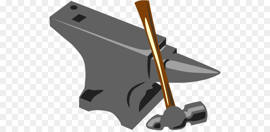 Anvil clipart cartoon. Hammer metal product technology