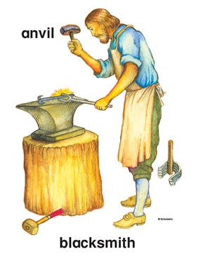 Printable clip art and. Anvil clipart colonial blacksmith