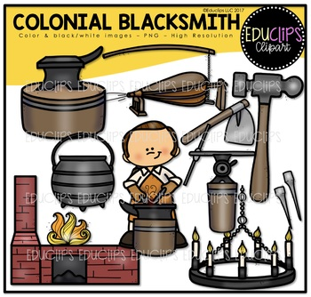 Clip art bundle educlips. Anvil clipart colonial blacksmith