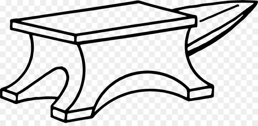Table cartoon rectangle transparent. Anvil clipart drawing