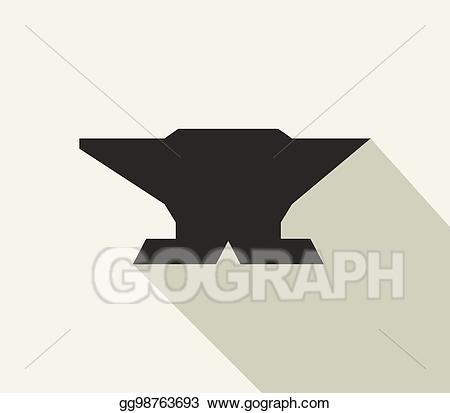Anvil clipart drawing. Vector art icon gg