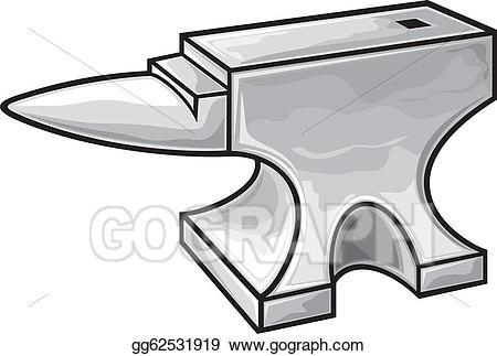 Anvil clipart drawing. Vector art gg gograph