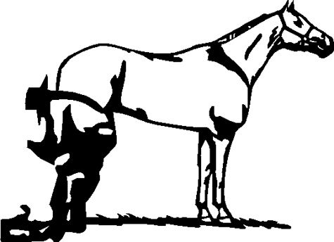 Silhouette stuff cowboy art. Anvil clipart farrier