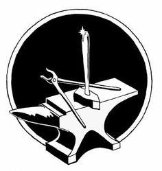 Anvil clipart guild. Blacksmiths symbols blacksmithing and
