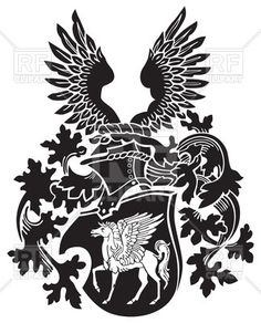 Phoenix on coat of. Anvil clipart medieval