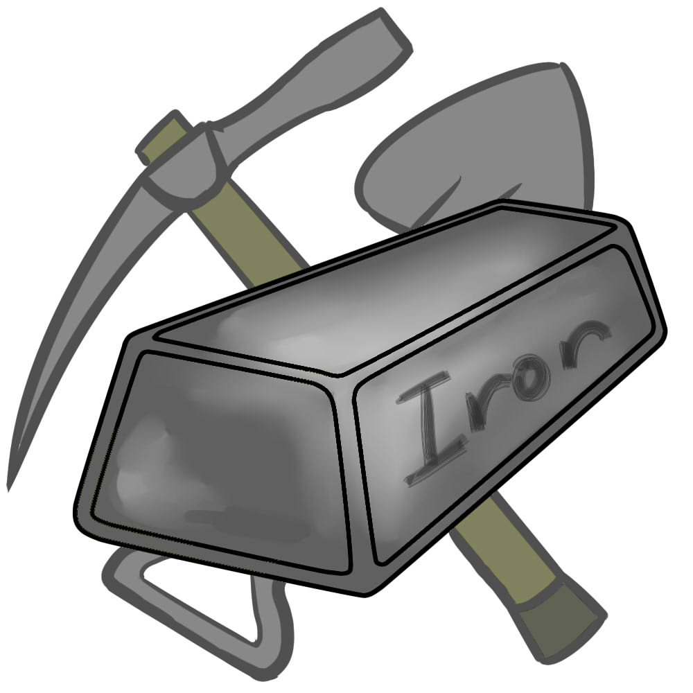 Pencil and in color. Anvil clipart metal work