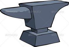 Anvil clipart metallurgy. Set of hammer blacksmith