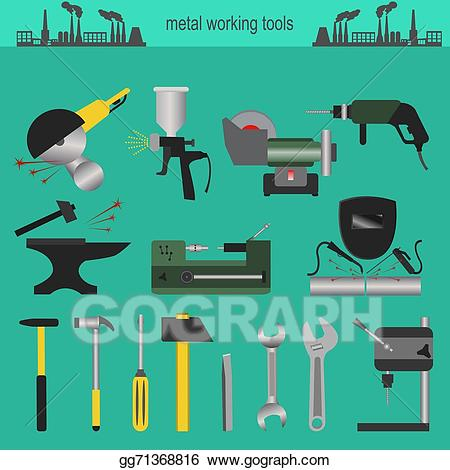 Anvil clipart metallurgy. Eps illustration set of