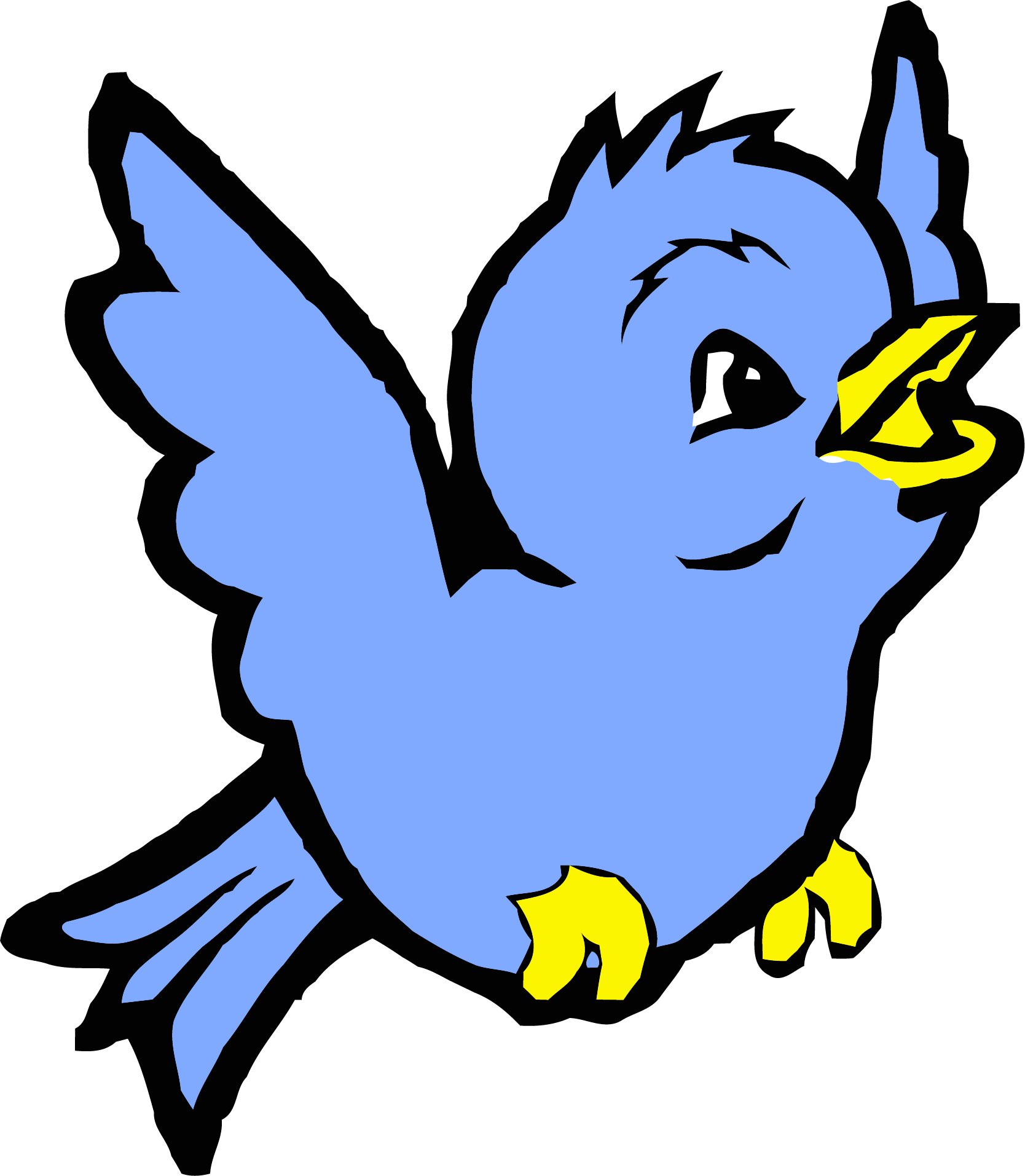 Cornflower blue bird cartoon. Anvil clipart pixel