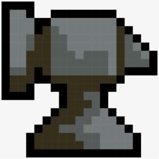 Art minecraft artist perler. Anvil clipart pixel