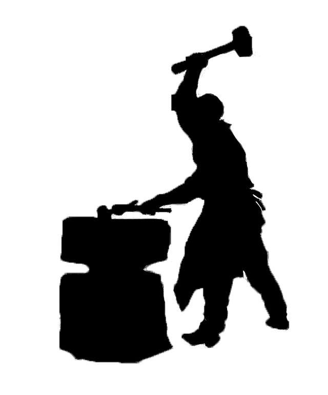 Blacksmith clip art google. Anvil clipart silhouette