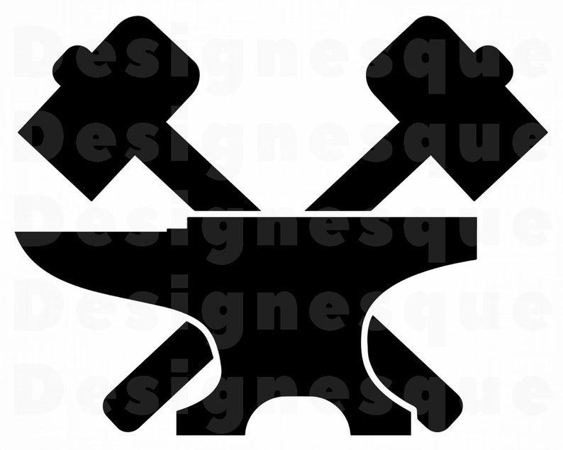 Anvil clipart silhouette. Blacksmith svg hammer files