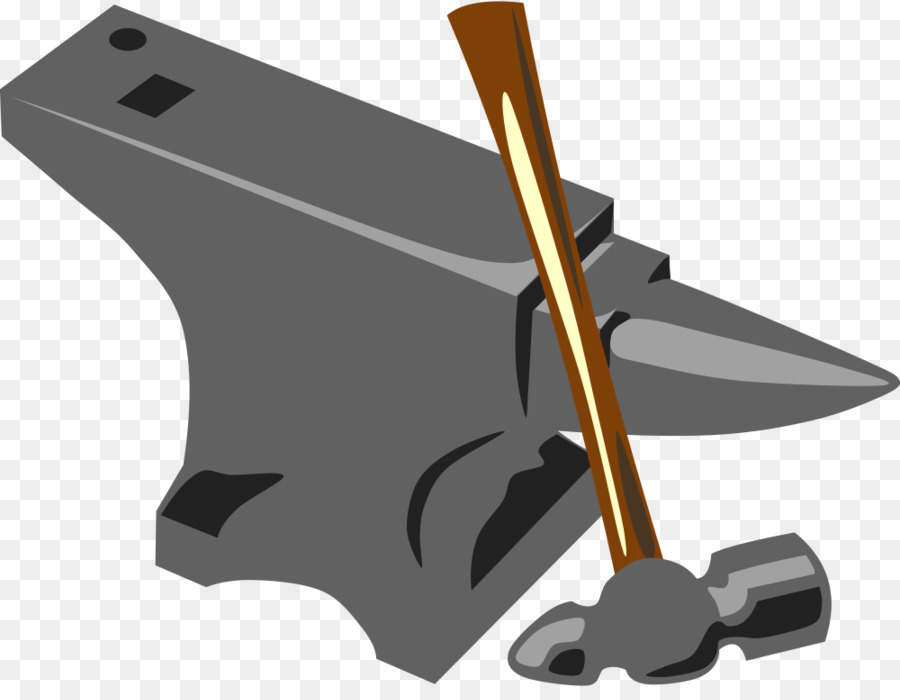 Blacksmith forge hammer clip. Anvil clipart silversmith