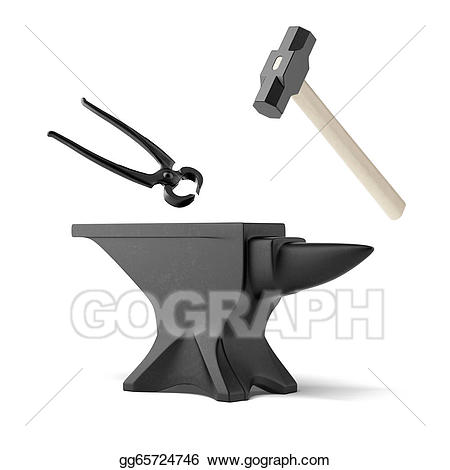 Anvil clipart smithy. Tongs and a blacksmith