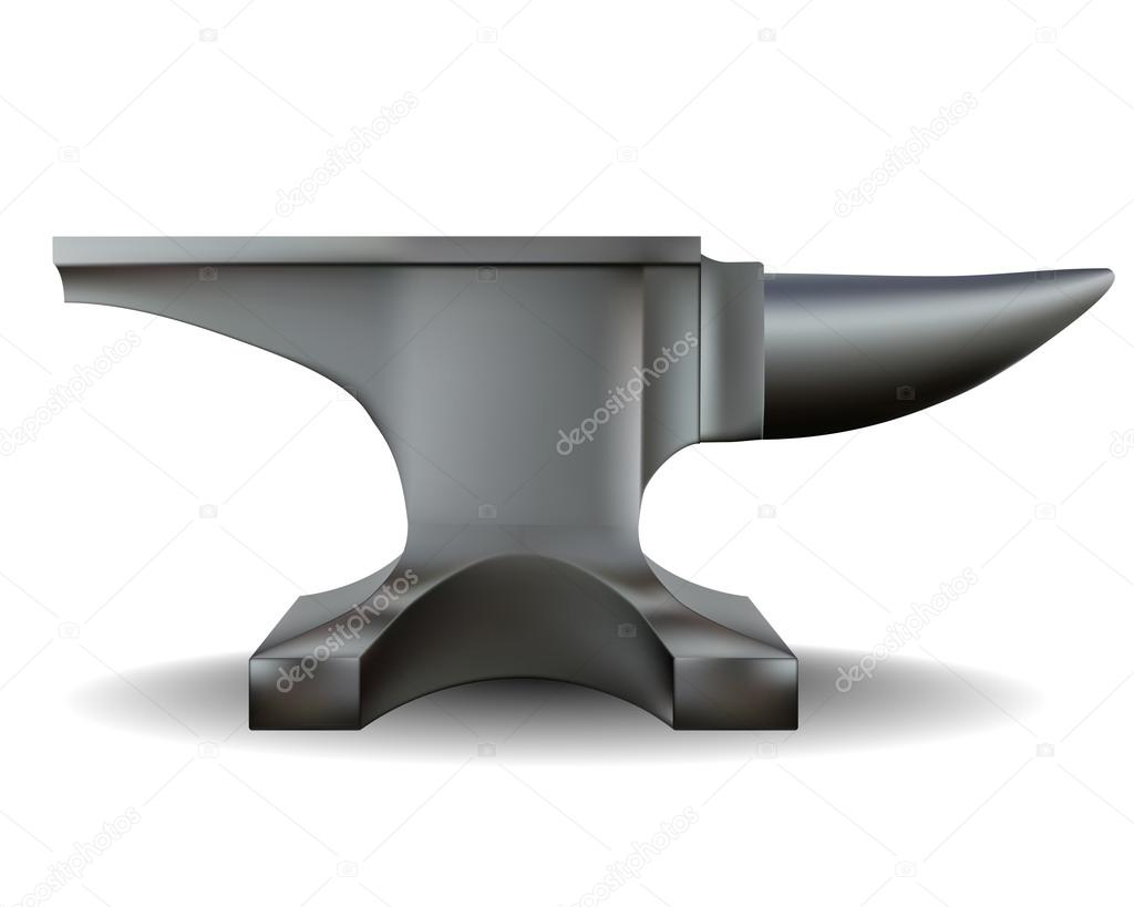 Old pencil and in. Anvil clipart smithy