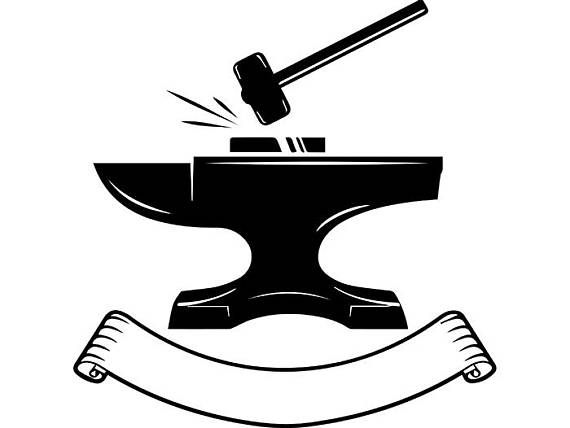 Blacksmith logo forge steel. Anvil clipart svg