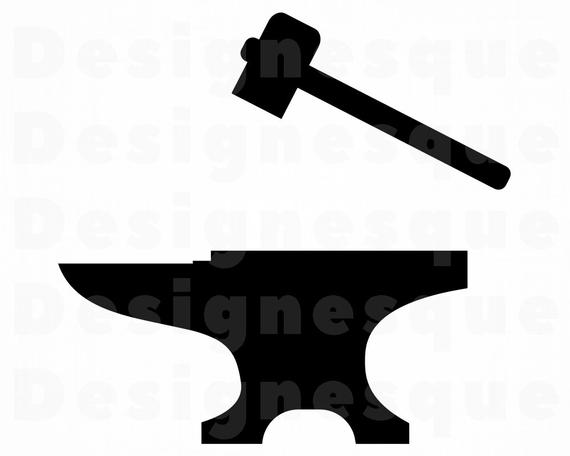 Blacksmith hammer files for. Anvil clipart svg