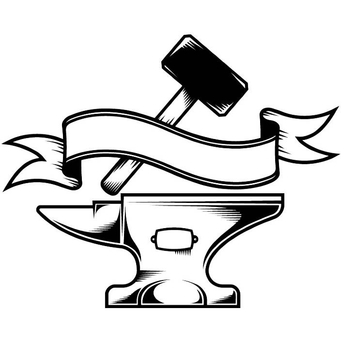 Woodworking logo carpenter tool. Anvil clipart svg